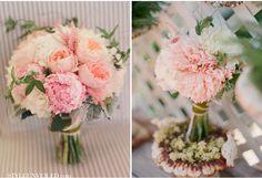 peach and blush