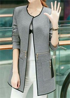 Pocket abaya zip