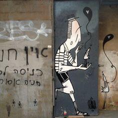 Alex Senna street art in Tel Aviv