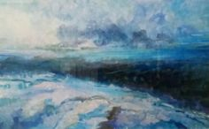 Fog Lifting  Acrylic on Paper  By Dorota Matys Art & Design
