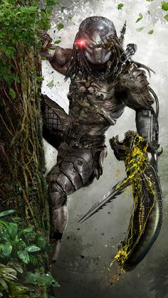 I would love to have a full sized Predator model, half hidden, until closer inspection, up a tree in the garden.  That would be amazing! v2.0 by uncannyknack.deviantart.com on @DeviantArt