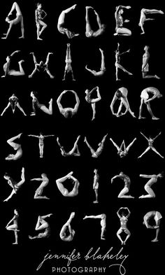 Gymnastics Alphabet a b c d e f g h I j k l m n o p q  r s t u v w x y and z