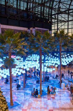 Rockwell Group creates canopy of 650 pulsating lanterns inside New York's Winter Garden.