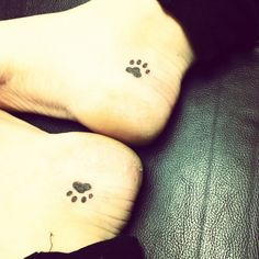 Dog paw tattoo!!