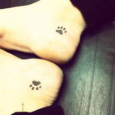 Dog paw tattoo!!