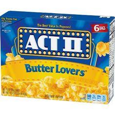 Act II Butter Microwave Popcorn, Oz. No Bake Snacks, Salty Snacks, Popcorn Kernels, Flavored Popcorn, Butter Popcorn, Road Trip Snacks, Microwave Popcorn, Nutritious Snacks, Night Snacks