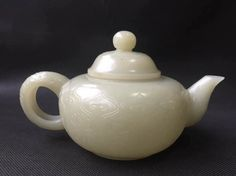 Chinese auction results  I just discovered this CHINESE WHITE JADE TEA POT sold for $3850