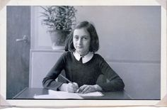 This is a photo of Anne Frank in her final year at the 6th Montessori school in Amsterdam. She is eleven years old.