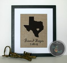 State Art Print on Burlap, State Decor for Home, Map art print, Wall art print, Map wall print, State map print