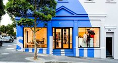 The Style Examiner: Paul Smith Opens New Shop in Cape Town Shop Interior Design, Retail Design, Store Design, Paul Smith, Smith Store, Retail Facade, Blue Cafe, Central Business District, Shop Fronts