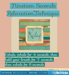 Nineteen Seconds Relaxation Technique