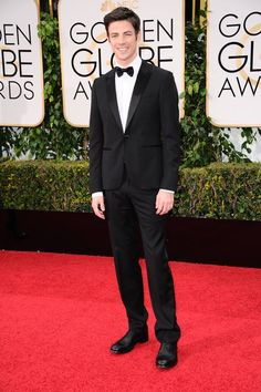 Grant Gustin arrives at The 73rd Annual Golden Globe Awards 1/10/16
