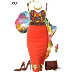 """African Print 2"" by brownskinpanama on Polyvore"