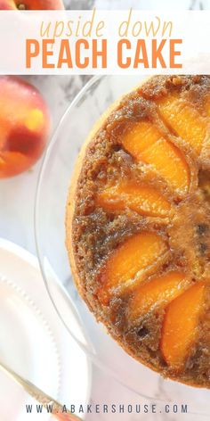 Celebrate summer's bounty of peaches with this upside-down peach cake recipe. Th… Celebrate summer's bounty of peaches with this upside-down peach cake recipe. The butter and brown sugar create a magical caramel-like topping. Peach Cake Recipes, Sweet Recipes, Recipes With Peaches, Easy Recipes, Köstliche Desserts, Dessert Recipes, Cheesecake Recipes, Savoury Cake, Coffee Cake