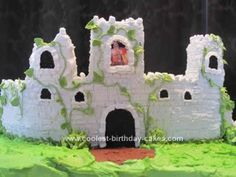 Homemade Scottish Castle 40th Birthday Cake: My cousin loves everything Scottish, especially castles. She turned 40 and her hubby suggested a Scottish Castle. So I made 2 sheet cakes (2 cake mixes