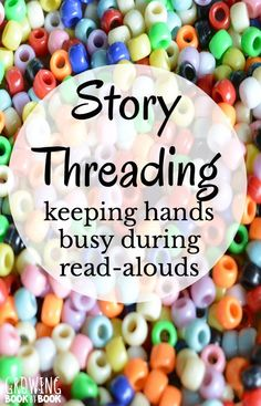 A quiet activity to keep bodies busy and mouths quiet during a read-aloud time…