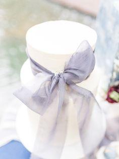 This cake... dripping with Oh Be Joyful Creative Silk Ribbon #silklove #silkribbon #silk #cake #weddingcake #inspo #fineartwedding #dallaswedding #weddingdetails #bluewedding #weddingcakeinspo #handdyedsilk #plantdyed #texture