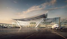 norman foster and partners taiwan taoyuan international airport terminal 3 competition designboom