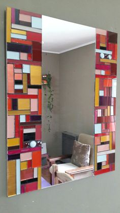 Mosaic Mirrors, Mosaic Glass, Stained Glass, Glass Art, Mosaic Ideas, Mosaics, Contemporary, Rugs, Frame