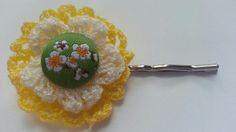 Yellow bobby pin