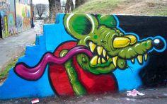 Rat Fink graffitti