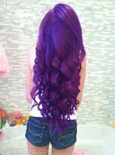 Purple Hair hair beautiful purple long hair hairstyle hair ideas