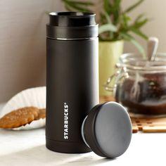 Stainless Steel Travel Press - Black, 10 fl oz Copo Starbucks, Travel Mug, Tumbler, Coffee Maker, Stainless Steel, Mugs, Tableware, Accessories, Water Bottles