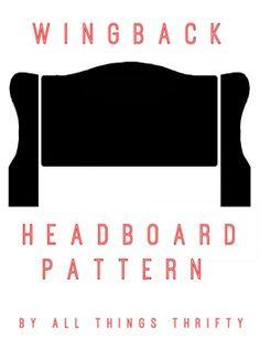 FREE Wing back headboard pattern