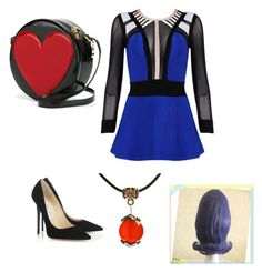 """""""Evie from Descendants"""" by mal-loves-ben ❤ liked on Polyvore featuring Posh Girl, Jimmy Choo, Moschino, women's clothing, women, female, woman, misses and juniors"""