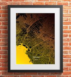 Athens City Map Print Digital Download, Greece, Street Map Art,map print, map poster,print map art travel, City Map Wall Art Map Wall Art, Map Art, Print Map, Poster Prints, Printing Services, Online Printing, Athens City, Travel City, Simple Prints