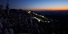 Night skiing in Vermont