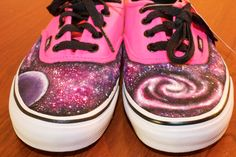 Galaxy Vans  The Rose Galaxy editions by AnAmericansCanvas on Etsy!!!!! want want want plzzzzzz!!!!