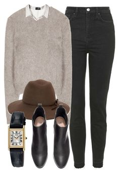"""Untitled #4427"" by laurenmboot ❤ liked on Polyvore featuring Topshop, Givenchy, Cheap Monday, Lisa Battaglia, H&M and Seiko"