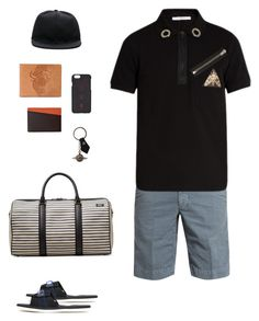 """""""Jack Spade Industrial Canvas Striped Duffle Bag"""" by lua4lma ❤ liked on Polyvore featuring Incotex, Givenchy, Suicoke, Jack Spade, FOSSIL, STOW, Vivienne Westwood, County Of Milan, men's fashion and menswear"""