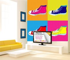 Pop Art Sneakers Wall Stickers - Totally Movable, $59.99 (http://www.wholesaleprinters.com.au/pop-art-sneakers-wall-stickers-totally-movable)