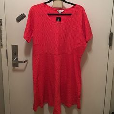 Plus Size Textured Coral Dress Brand new with tags Simply Be Dresses Mini
