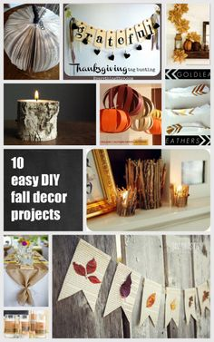 10 easy DIY fall and thanksgiving decor projects / via www.thesweetestdigs.com