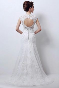 Back view of bride dress