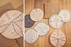 Craft Beer Coasters as Wedding Invitation