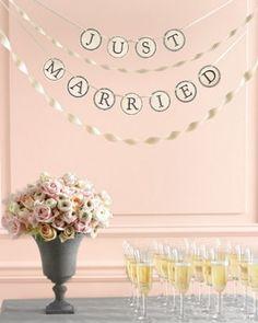 """Una decoración elegante See the """"Custom Banner"""" in our Wedding Signs Clip Art gallery"""