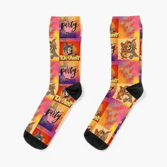 'tom and Jerry cartoon design ' Socks by Madhuri Mahajan Knitting Socks, Knit Socks, Tom And Jerry Cartoon, Cartoon Design, Iphone Wallet, Art Text, Toms, My Arts, Art Prints