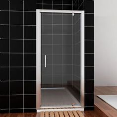 Crown Pivot Shower Door Reversible Can be fitted left or right handed Size x mm safe clear glass BS EN 12150 CE certifed high Stainless Steel Screws, Shower Enclosure, Shower Doors, Polished Chrome, Clear Glass, Crown, Flooring, Wall, Home