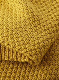 Photo 2 of Mustard Waffle Knit Throw