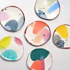 """Susan Simonini ( """"New plates for Hobart, and November Pottery Painting Designs, Pottery Designs, Pottery Ideas, Pottery Painting Ideas Easy, Ceramic Painting, Ceramic Art, Ceramic Mugs, Ceramic Bowls, Ceramic Animals"""