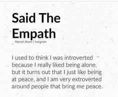 introvert extrovert Words Quotes, Wise Words, Me Quotes, Sayings, Empath Traits, Intuitive Empath, Empath Abilities, Infj Personality, Les Sentiments