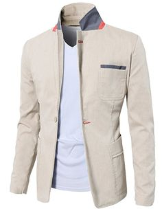 Mens Slim Fit Suits Casual Solid Lightweight Blazer Jackets One Button Flap Pockets Blazer Outfits Men, Mens Fashion Blazer, Mens Fashion Wear, Mens Designer Shirts, Designer Suits For Men, Stylish Men, Men Casual, African Shirts For Men, Indian Men Fashion