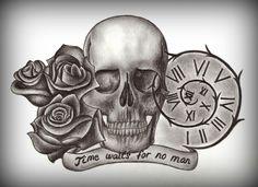 23 Best Skull With Roses Tattoo Images Skull Rose Tattoos Skulls