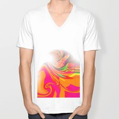Re-Created  Tsunami FIVE V-neck T-shirt by Robert S. Lee - $24.00
