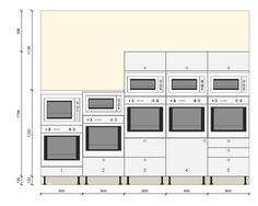 dimension encastrement four micro onde - sina Kitchen Design Gallery, Galley Kitchen Design, Modern Kitchen Cabinets, Modern Kitchen Design, Kitchen Cabinet Dimensions, Kitchen Layout Plans, Brick Bbq, Kitchen Drawing, Four Micro Onde