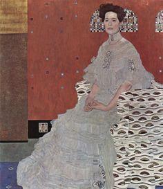 """""""Ritratto di Rritza Riedler"""", Gustav Klimt, 1906; olio su tela, 153x133 cm; Österreichische Galerie Belvedere, Vienna,"""